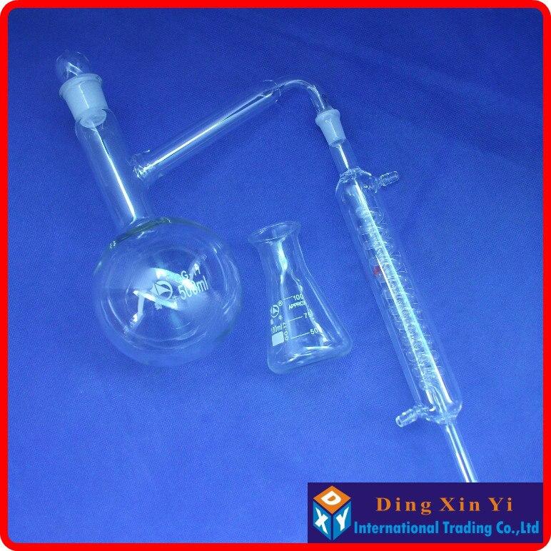 balão de destilação + condensador de graham + destilador de balão cónico