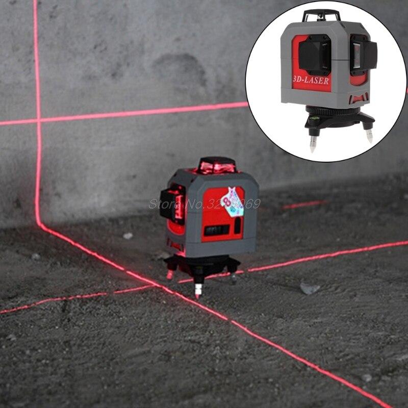 3D Laser Niveau 360 Degrés 12 Ligne Auto-Nivellement Outil 65ft 20 m pour Construction Sep12 livraison directe
