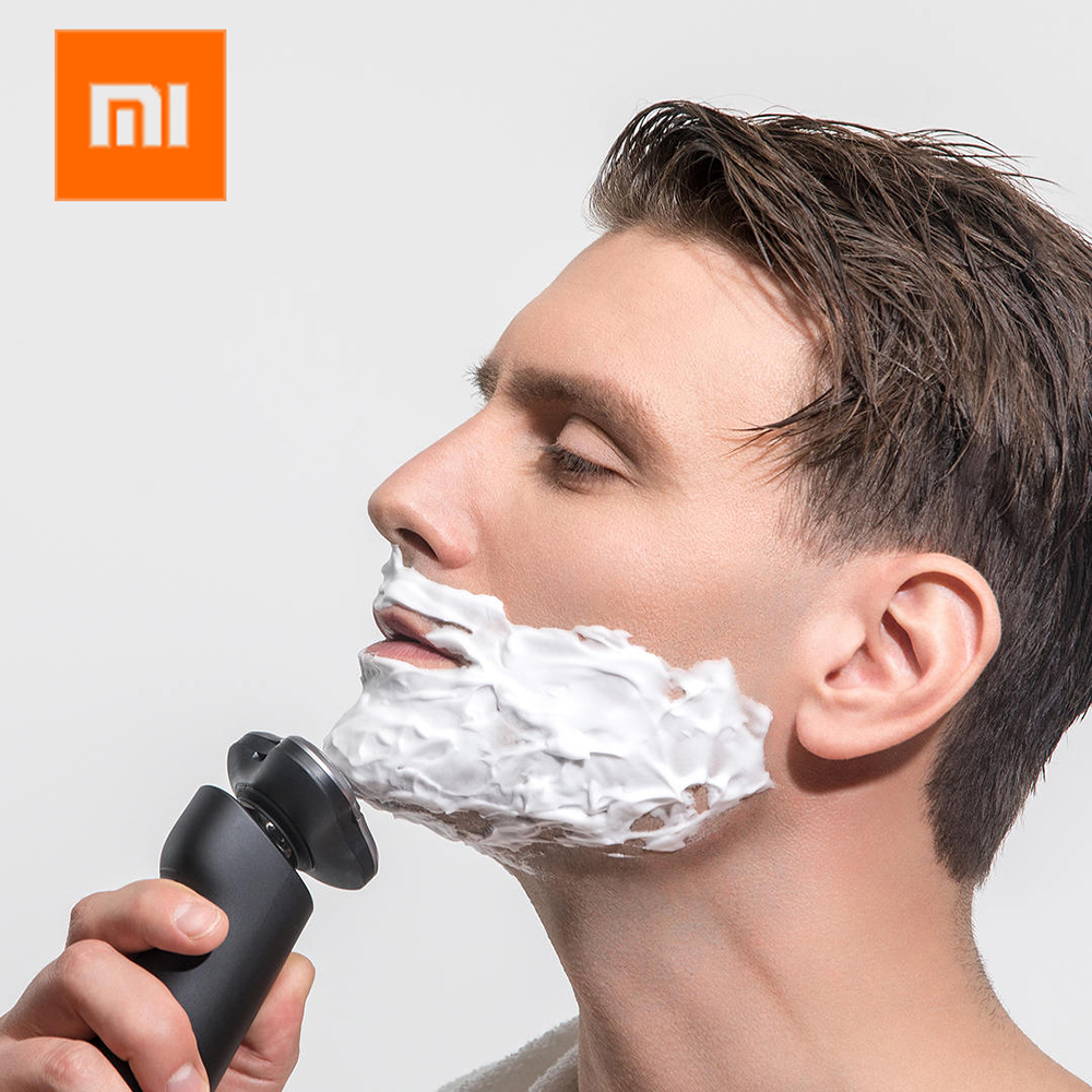 Xiaomi rasoir électrique pour hommes machine à raser rasoir xiaomi tondeuse à barbe original 3 têtes sèche humide rasage lavable rasoir 3
