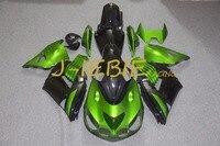 Czarny zielony Zestaw dla Kawasaki NINJA Wtrysku Fairing Nadwozie Ramki ZX14 ZX14R ZX 14 R 2006 2007 2008 2009 2010 2011