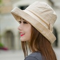 Women Bowknot Sun Hat, Design Summer Beach Fisherman Hats, Anti-UV Sun Protection Fishing Bucket Hat Cap For Girl Outdoor Sunhat