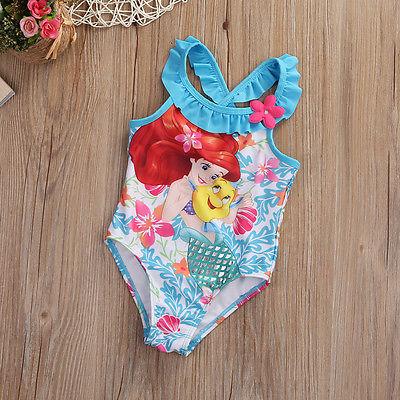 Kids Clothes Children Baby Girl Little Mermaid Bikini Suit Swimwear Swimsuit Bathing Costume Toddler 1-6Y New 2017