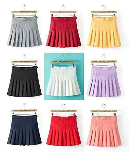 ed82596d05 ... MISSKY Sporty Dance Skirt Kawaii Furifuri Mini Flare Skirt Women's Pleated  Skirt Uniform Culottes Pants High
