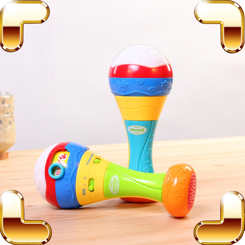 New Arrival Gift Baby Rattles Toys New Born Kids Enlightenment Learning Toy Electrical Sound Shaking Machine Children Education