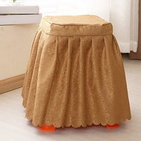 New Stool Cover Vintage Square Chair Slipcover For Home Hotel Restaurant Dinner Seat Protector Cloth Slipcover