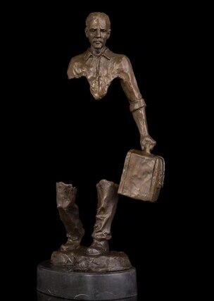 Copper Brass Hombre de modern abstract sculpture figure statues sculpture for home modern studio modern gallery Viaje del Alma-in Statues & Sculptures from Home & Garden    1