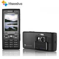 K800 Original Entriegelt Sony Ericsson K800 3G GSM Tri-Band 3.15MP Kamera Bluetooth FM Radio JAVA Renoviert Zelle telefon