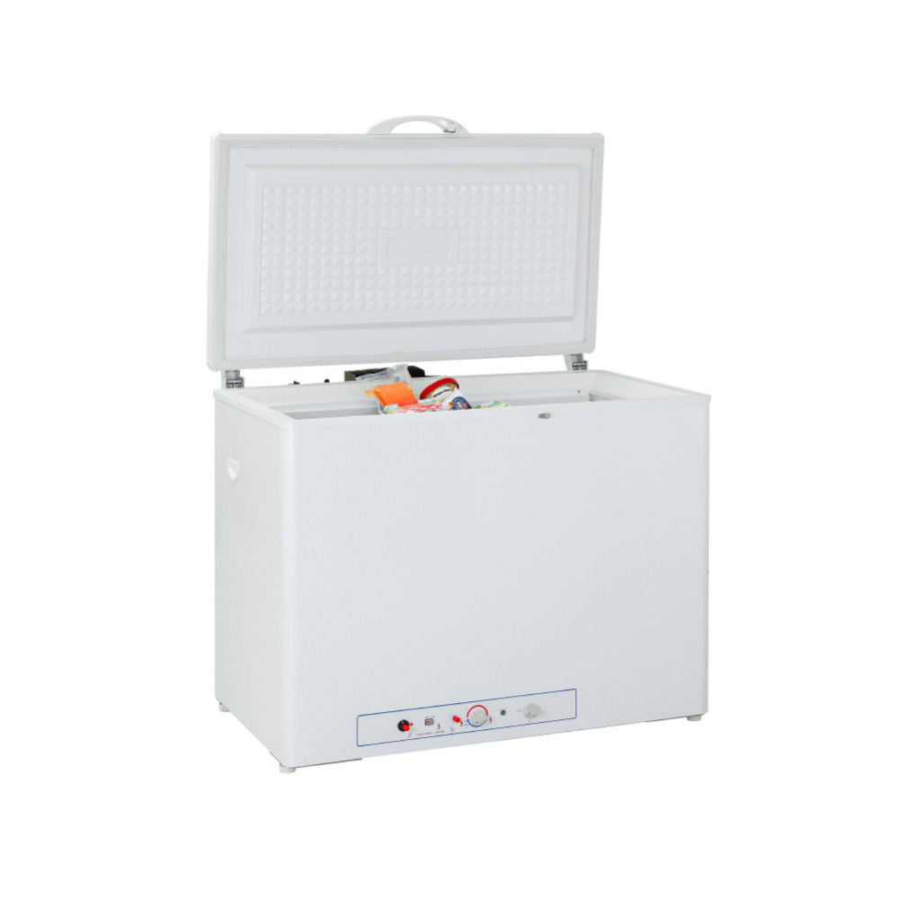 New Smad 191L LPG Gas 110V/220V Chest Freezer Electric Low Noise Deep Freezer Ice Cream Restaurant High Quality Freezers White