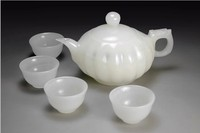 Pure natural jade with a pumpkin pot of Afghanistan white jade tea teapot home decoration decoration