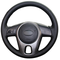 Black Artificial Leather Car Steering Wheel Cover for Kia Forte Kia Soul  Kia Rio 2009-2011