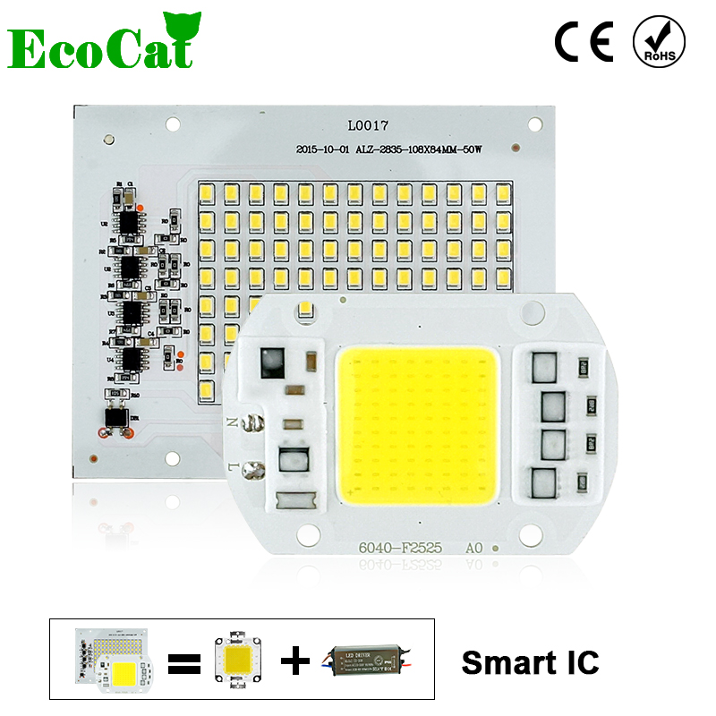 ECO CAT LED COB Bulb Lamp 5W 10W 20W 30W 50W LED Chip 220V Input IP65 Smart IC Fit For DIY LED Flood Light Cold White Warm White led cob bulb lamp 30w 50w led chip beads 220v input ip65 smart ic fit for diy led flood light cold white warm white