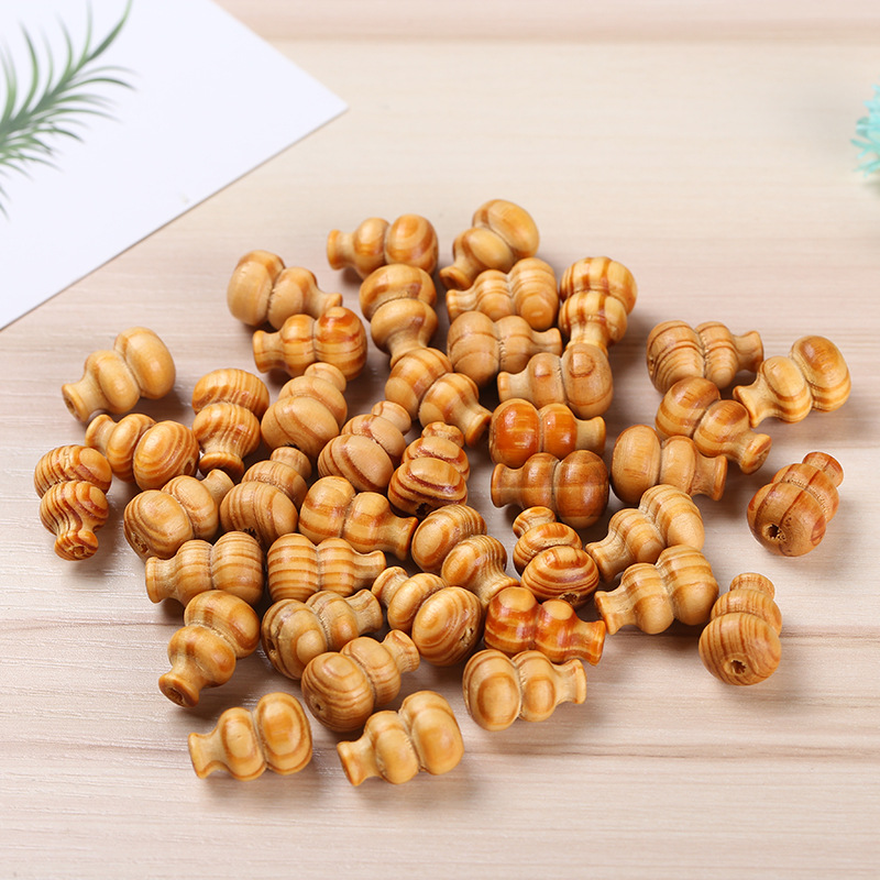 50pcs 12*19mm Pine gourd crafts DIY handmade jewelry accessories beads jewelry small gourd pendant furniture decoration