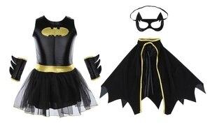 Image 4 - ילד בנות באטמן Batgirl תחפושת טוטו Superhero תלבושות תלבושות קומיקס 4PCS