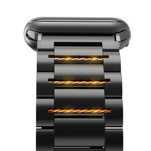 Image 5 - HOCO נירוסטה רצועת השעון סיכות שחרור עבור אפל שעון 44 mm קישור צמיד החלפת רצועת השעון עבור iwatch Serise 4