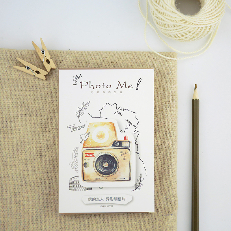 30pcs/lot Phote Me Vintage Postcards Cartoon Memo Cards DIY Envelop Gift Card Bookmark Message Notes Cute Stationery