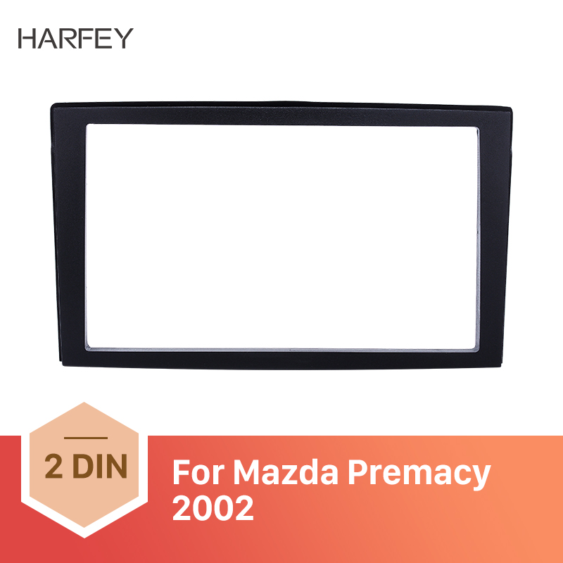 Harfey Autoradio Car <font><b>Radio</b></font> Frame Trim <font><b>kit</b></font> For <font><b>Mazda</b></font> Premacy 1999 2000 2001 2002 2003 2004 <font><b>Dash</b></font> Stereo Mount Install <font><b>Kit</b></font> Surround image