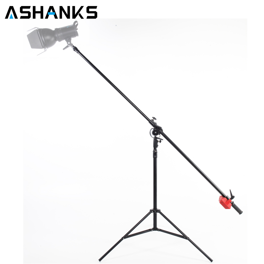 ASHANKS Heavy Duty Boom Stand Large size Aluminum Top Boom Arm stand Light Stand Kits Load to 5KG for studio Flash Light Softbox ashanks photography 2 in 1 3m top light stand as boom arm stand large lamp holder kits for photo studio light softbox load 8kg