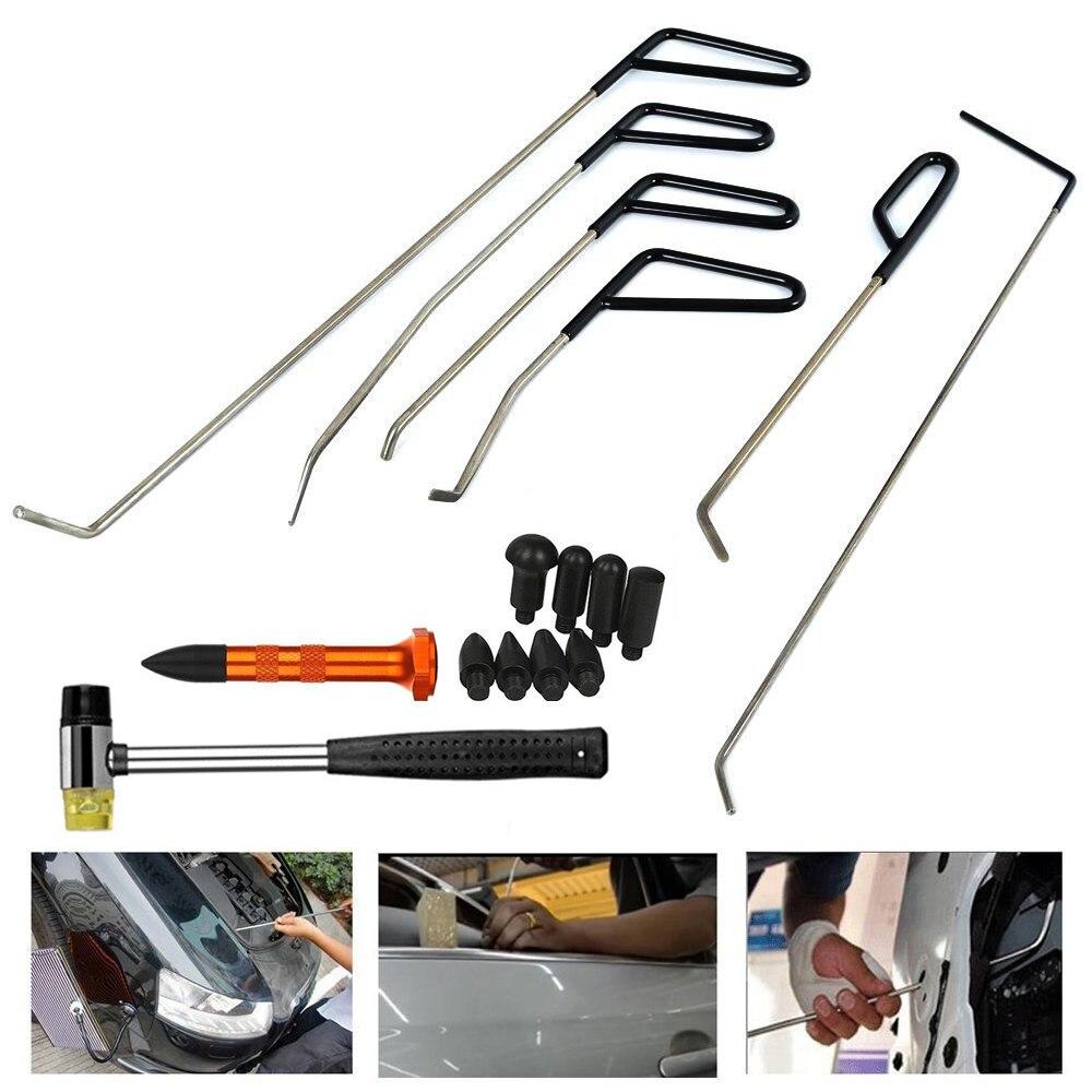 PDR Rods Hook Tools Paintless Dent Repair Car Dent Removal PDR Tool Kit Hail Hammer цены
