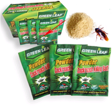 Hot 10PCS/Effective Cockroach Killing Bait Medicine Insecticide Green Leaf Powder Cockroaches Killer Repeller Trap Pest Control