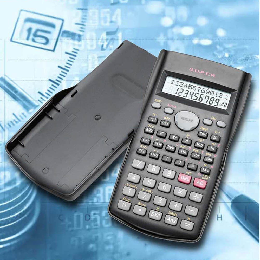 Pocket Calculator 82MS-A 2-Line-Display Electronic Student Portable Scientific Functions