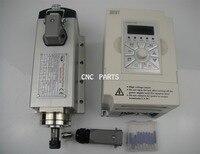 Фрезерные шпинделя ER11 air cooling1.5KWspindle с 4 шт. подшипник + 1.5kw Инвертор + 10 шт. ЧПУ Биты для гравировки