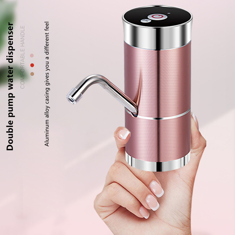 Dual Motor Electric Water Dispenser Pump USB Charge Touch Screen 0.8L Fixed Water Quantity for 5L 10L 15L Drink Bottles