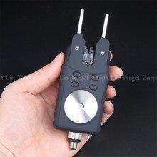 Receptor de indicador de alarma de mordedura de Pesca de carpa para caña de pescar, volumen y sensibilidad ajustables, herramienta de aparejos de alarma de pesca