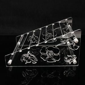 Image 5 - Acrylic Rondelles Rack European Beads Display Stand Pandora Charms Beads Bracelet Jewellry Body Jewelry Ring Earrings Showcase