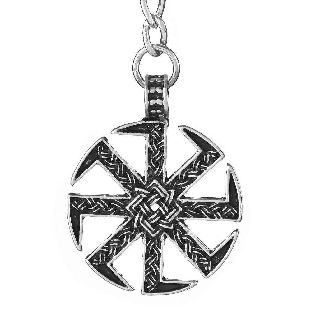 1pc słowiański Kolovrat Totem brelok do kluczy z ozdobą ozdoba Viking Lada Star talizman najlepszy przyjaciel biżuteria