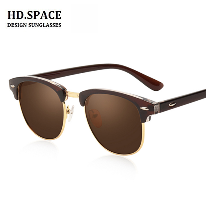 HD.space Fashion finished myopia glasses ray sunglasses men Nearsighted Glasses Myopia sun glasses brown lens -0.50 to -8.00