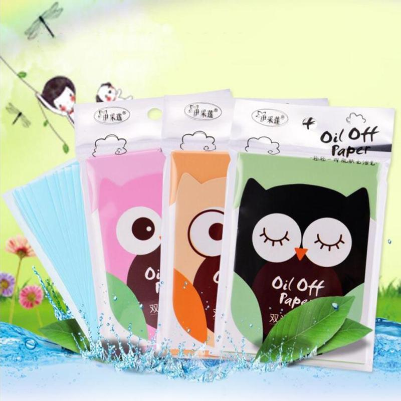 Oil Control Absorption Film Tissue Makeup Blotting Paper Oil Removal Paper absorbing Facial Oil Remover A5
