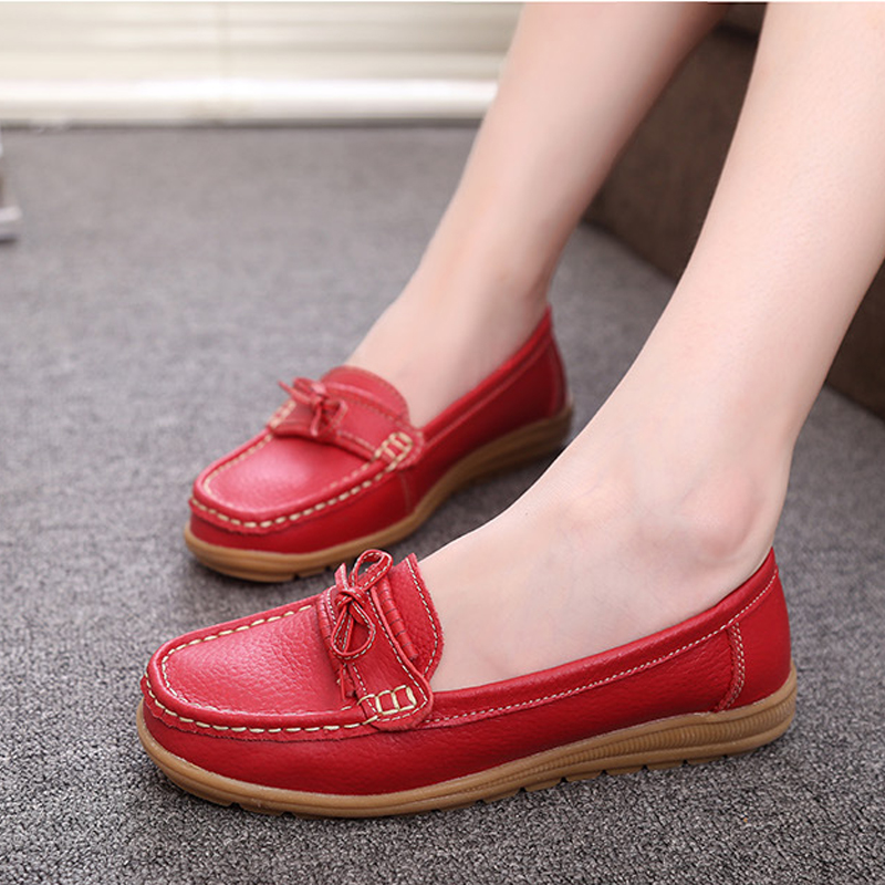 Women Flats PU Leather Casual Loafers Lace-up Round Toe 4 Colors Mother Women Shoes Moccasins Summer Ladies Girls Shoes 5-DT912 2016 new women s fashion shoes spring summer style casual flats lace up pointed toe leather plus size 35 41 loafers for girls