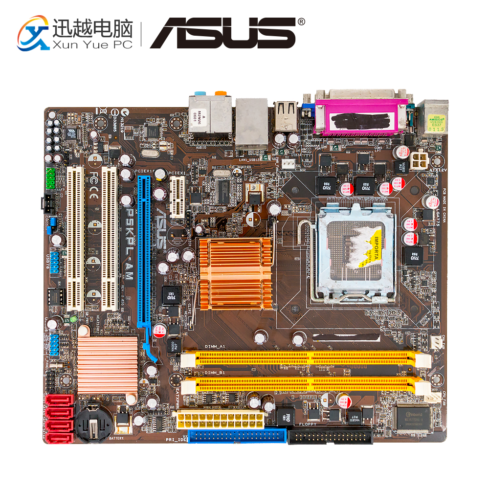 Asus P5KPL-AM Desktop Motherboard G31 Socket LGA 775 DDR2 4G SATA2 USB2.0 VGA COM uATX free shipping original motherboard for asus p5kpl se ddr2 lga 775 usb2 0 4gb g31 desktop motherboard