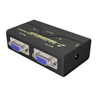 2PCS 2 In 1 Out VGA Splitter Stable Transfer Monitor Computer Connection Synchronization Laptop Anti interference Durable Switch