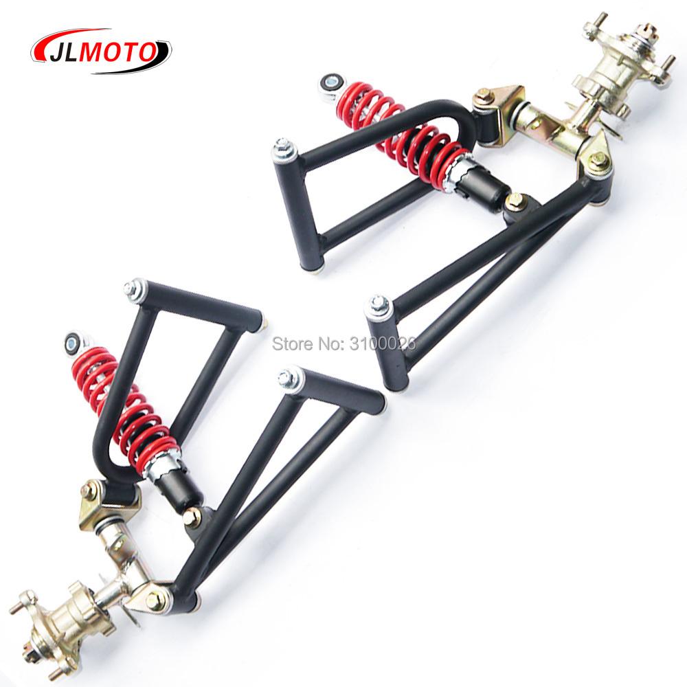 1Set 285mm Suspension Swing Arm Upper/Lower A Steering Knuckle Spindle with Brake Disc Hub Fit For Buggy electric ATV Bike Parts