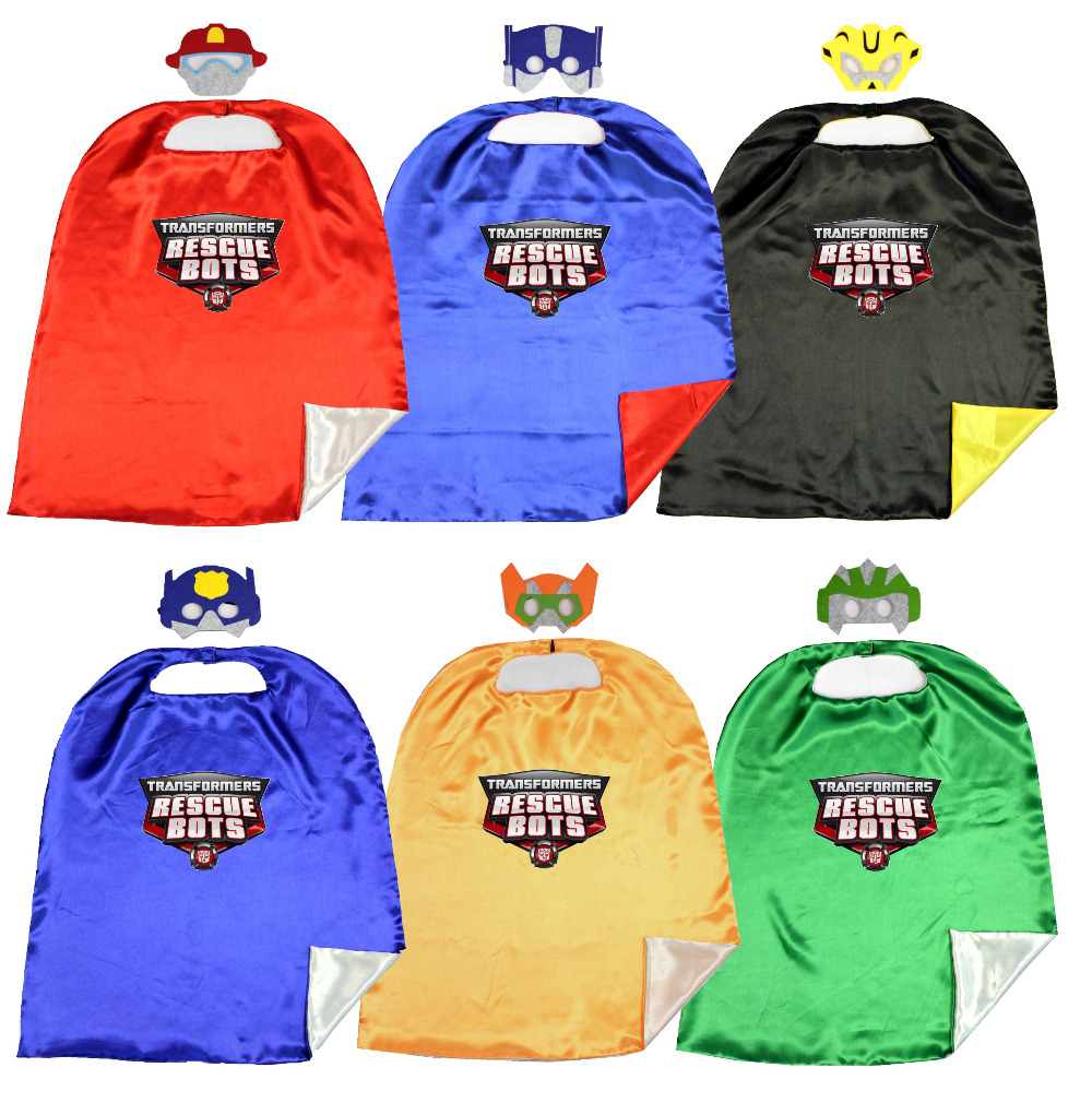 70*80cm 2layer Capes matching masks  Birthday Party Favor Inspired Dress Up Capes + Masks