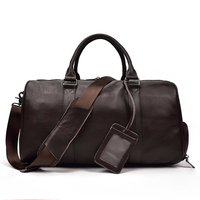 Luufan Leather Hand Luggage Genuine Leather Travel Bags Hand Luggage With Shoe Pocket Shoulder Travel Bag Big Capacity Carry On