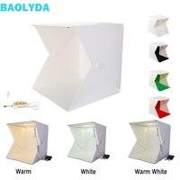 Baolyda 40*40cm Photo Light Box Lightbox Photography Adjustable Brightness Mini Photo Studio Box with 4 Photo Studio Backgrounds