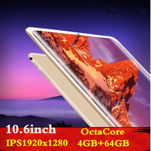 2019 NEW Computer 10.6 inch tablet PC Octa Core Android 8.0 4GB RAM 64GB  ROM 8 Core Wifi Gps 10 10.1  1920x1280 IPS
