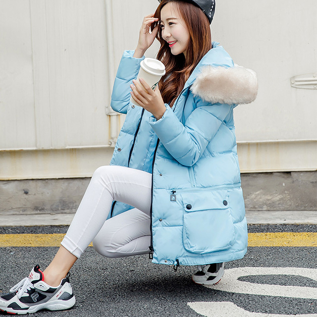 down coat maternity Maternity winter new Korean pregnant women padded down jacket and long sections Nagymaros collar coat