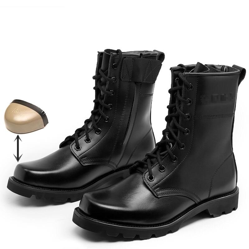 Hohe Stiefel Kampf Militär Stiefel Metall Offiziell Männer