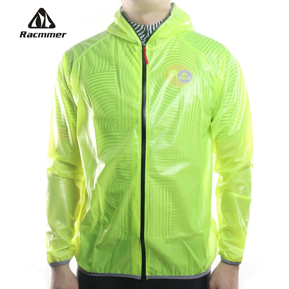 Racmmer MTB Lange Radfahren Jersey Taschenlampe Wasserdichte Jacke Winddicht Regenmantel Fahrrad Druck Kleidung 4 Farben # DG-02