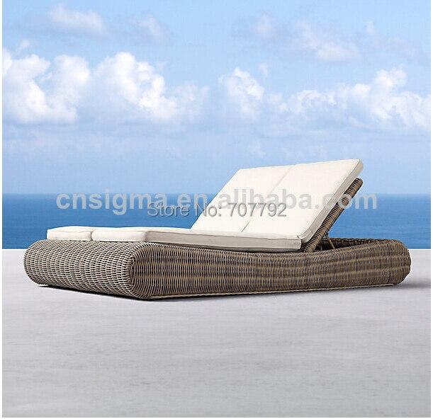 2014 vente chaude luxe conçu extérieur jardin en rotin Double chaise ...