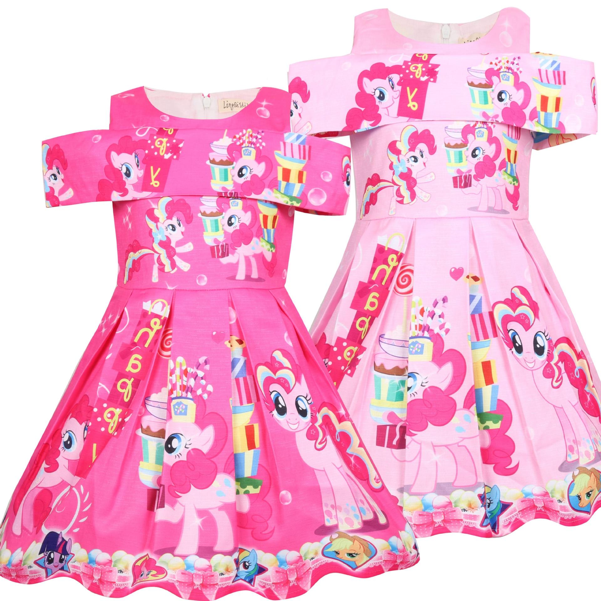 New Girls My Little Pony Princess Dress Kids Party Birthday Costume Dress
