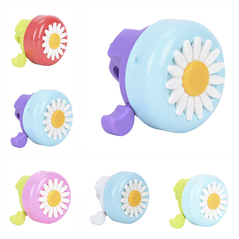 Bike Flower Children Girls Cycling Ring Alarm Kids Funny Bicycle Bell Horns for Handlebars Multi-color