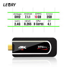 LEORY H96 Pro Mini Pc TV Box S912 2G RAM 8G/16G ROM Octa-core H.265 2.4G Wifi Android 7.1 Smart Set-top Box HDMI Tv Stick
