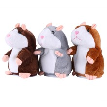 Talking Hamster Plush Toy Electronic Pets Cute Speak Talking Sound Recording Hamster Children Kids Baby Shipping from US(China)