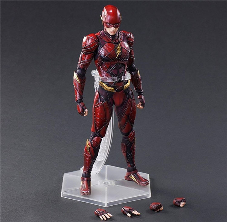 DC Justice League NO.2 The Flash Play Arts Kai Action Figure Toy PA Kai Figurals Collection Model Gift Doll elsadou 26cm play arts pa justice league the flash action figure toy doll collection