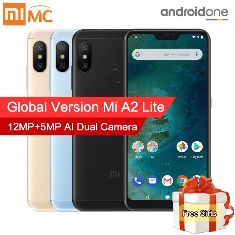 Глобальная версия Xiaomi Mi A2 Lite 3 ГБ 32 ГБ смартфон 5,84 полный Экран Snapdragon 625 Octa Core 12MP + 5MP двойной Камера 4000 мАч CE