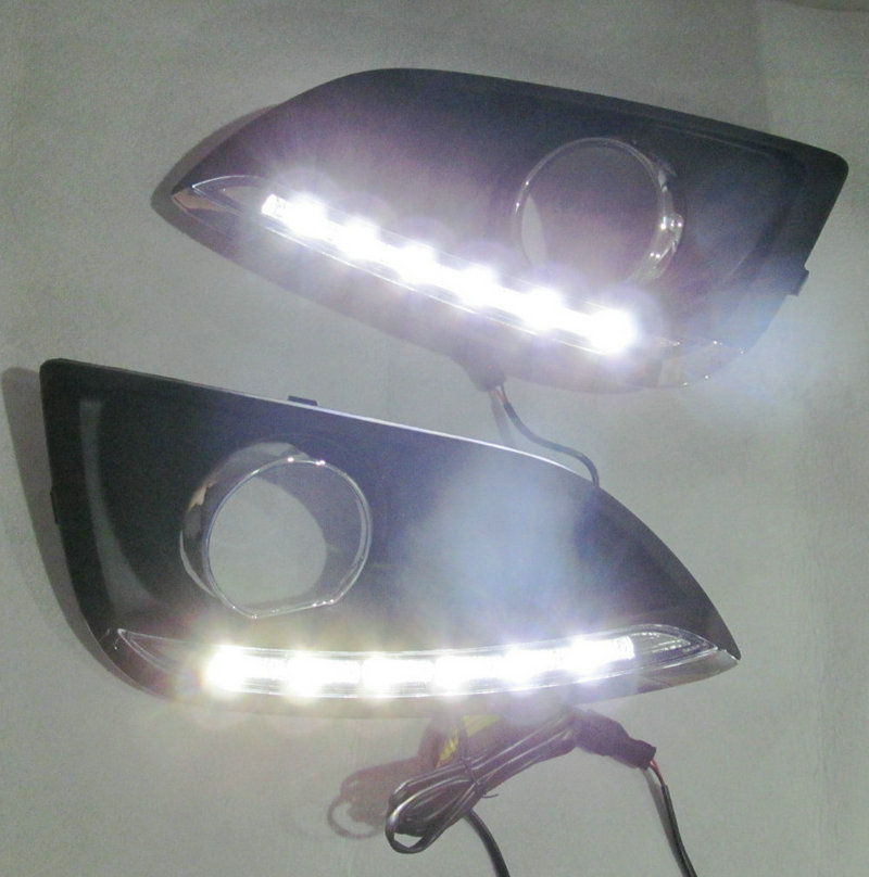 Car FlashingFor Hyundai IX35 2010 2013 LED DRL Daytime Running Light Daylight Waterproof Signal lamp car